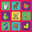 Baby card with animals. — 图库矢量图片