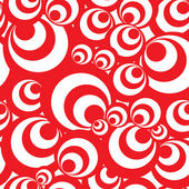 Seamless background pattern - white and red circles — Stok Vektör