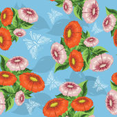 Pattern with orange flowers — Vetorial Stock