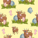 Pattern of farm animals — Stock Vector #34680953