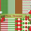 Christmas backgrounds and elements for design — Stok Vektör
