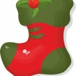 Vánoční bota — Stockvektor