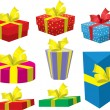 gifts boxes — Stock Vector