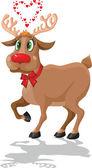 Love deer — Stock Vector