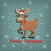 Christmas card with a deer — Stock Vector
