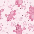 Pattern for newborn girl — Vector de stock