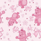 Pattern for newborn girl — Stockvector