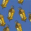 Christmas small lamps — Stockvektor