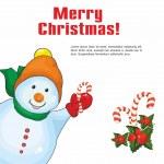Christmas card with a snowman — Stock Vector