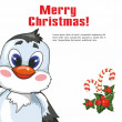 Christmas Penguin. — Image vectorielle