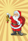 Santa holding lamp - Vector — Stock Vector