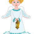 Girl angel — Stock Vector