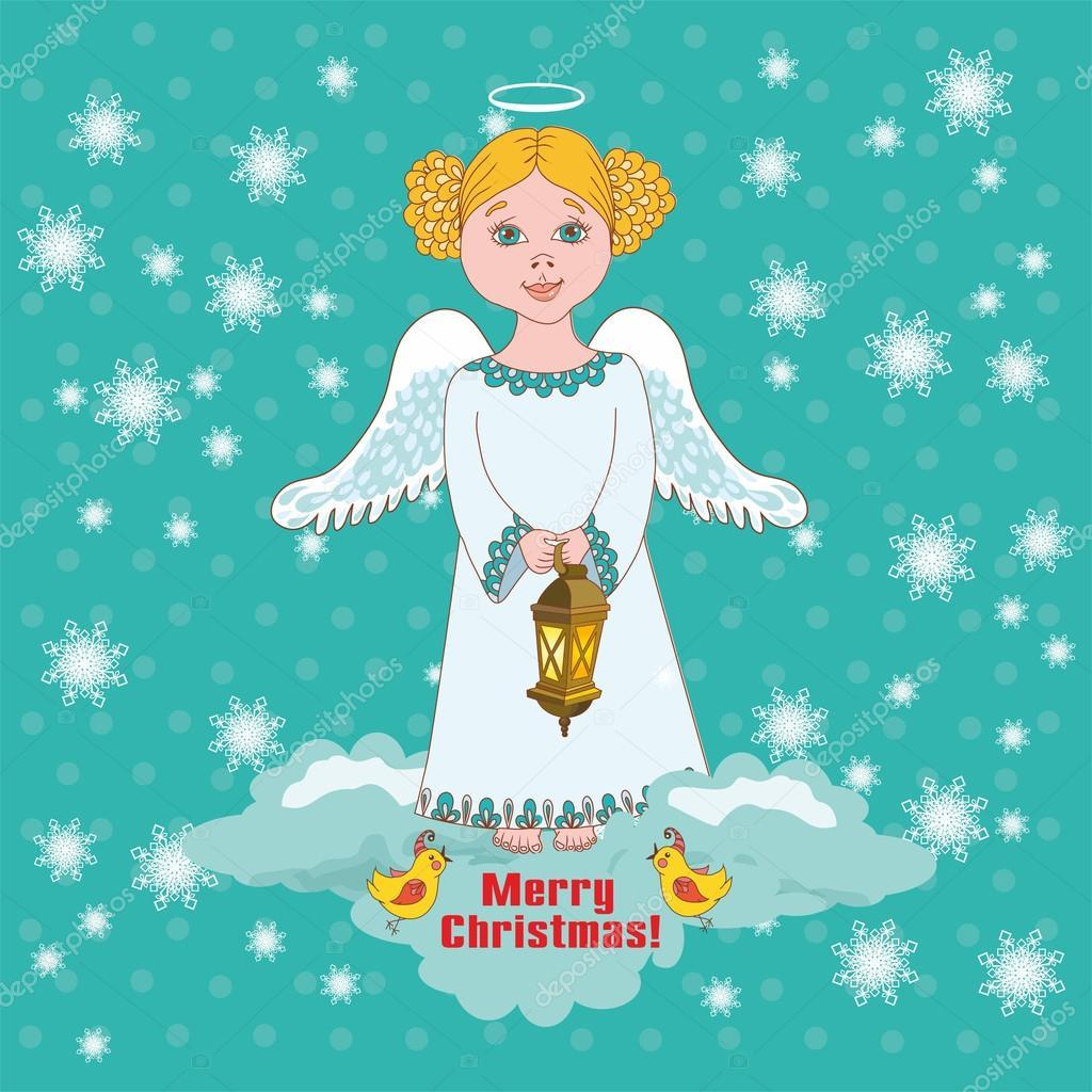 Сделать открытку с Ангелом своими руками можно следующим образом 73