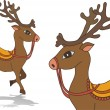 Deer. vector — Stock Vector