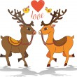 Love deer — Stockvectorbeeld