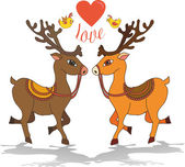 Love deer — Stock Vector