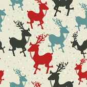 Pattern with a deer. Christmas — Stock Vector