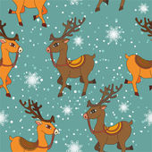 Pattern with a deer. Christmas — Stock vektor