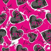 сердечки на розовом фоне — Cтоковый вектор
