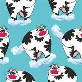 Cow on cloud — Vecteur