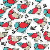 Kuşlar ile desen — Stok Vektör