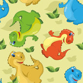 Pattern with dinosaurs — Stock Vector