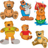 Set of cute bears — Vettoriale Stock