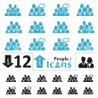People Icons — Stock Vector