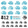 Database Icons — Stock Vector #32994187