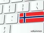 Welcome to Norway — Stock Vector