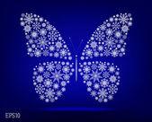 Sneeuw vlinder — Stockvector