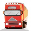 Truck on white background — Stock Vector