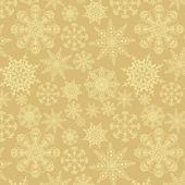 Naadloze ornament met sneeuwvlokken — Stockvector