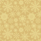 Ornamento sem costura com flocos de neve — Vetorial Stock