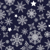 Dark background with snowflakes — Vector de stock