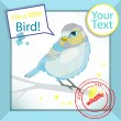 Bird on branch — Imagen vectorial