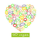 Vegan poster — Stock Vector