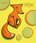 Painted fox — Stock Vector
