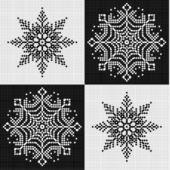 Ornament met sneeuwvlokken — Stockvector