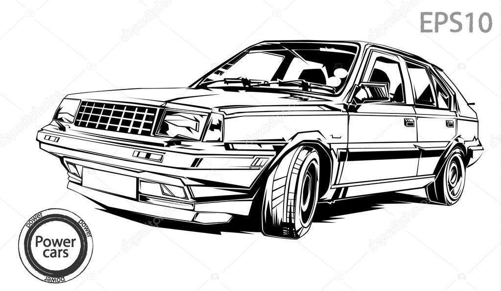白车— 图库矢量图像08