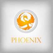 Fire phoenix — Stock Vector