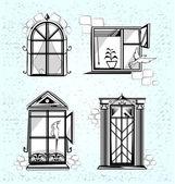Fenster — Stockvektor