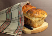 Freshly baked bread from the flour of the premium — Photo