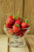 Strawberries in a vase — Stock Photo