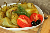 Roasted peppers, as a dietary meal — Stock Photo