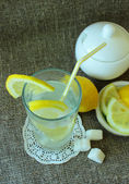 Cold glass of lemonade — Stock Photo