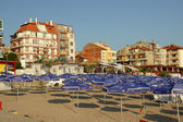 Pomorie, Bulgaria, July 22, 2014,Morning on the beach — Stock Photo