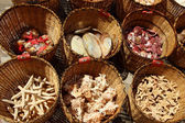 Pomorie, Bulgaria, July 27, 2014, Souvenirs - seashells lying in baskets — Stock Photo