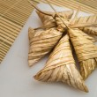 Stockfoto: Delicious Ketupat Daun Palas ready to eat on Eid Festival