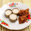 Lemang & Rendang ready to eat on Eid Festival — Stock Photo